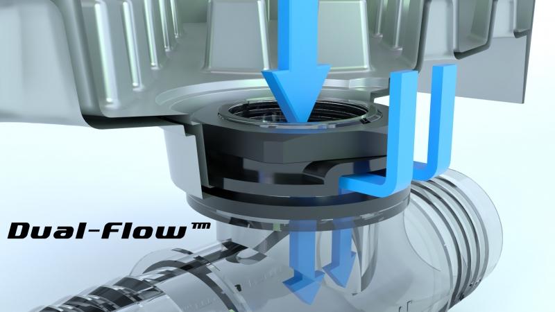 Dual Flow 50mm Tee