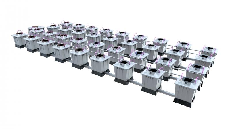 ALIEN® AERO™ 36 pot 15L PRO Silver Series